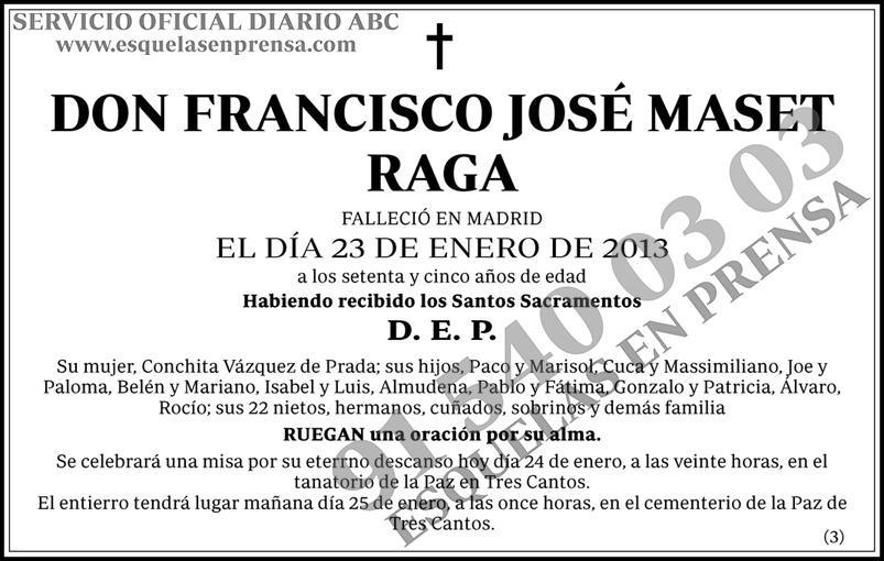 Francisco José Maset Raga